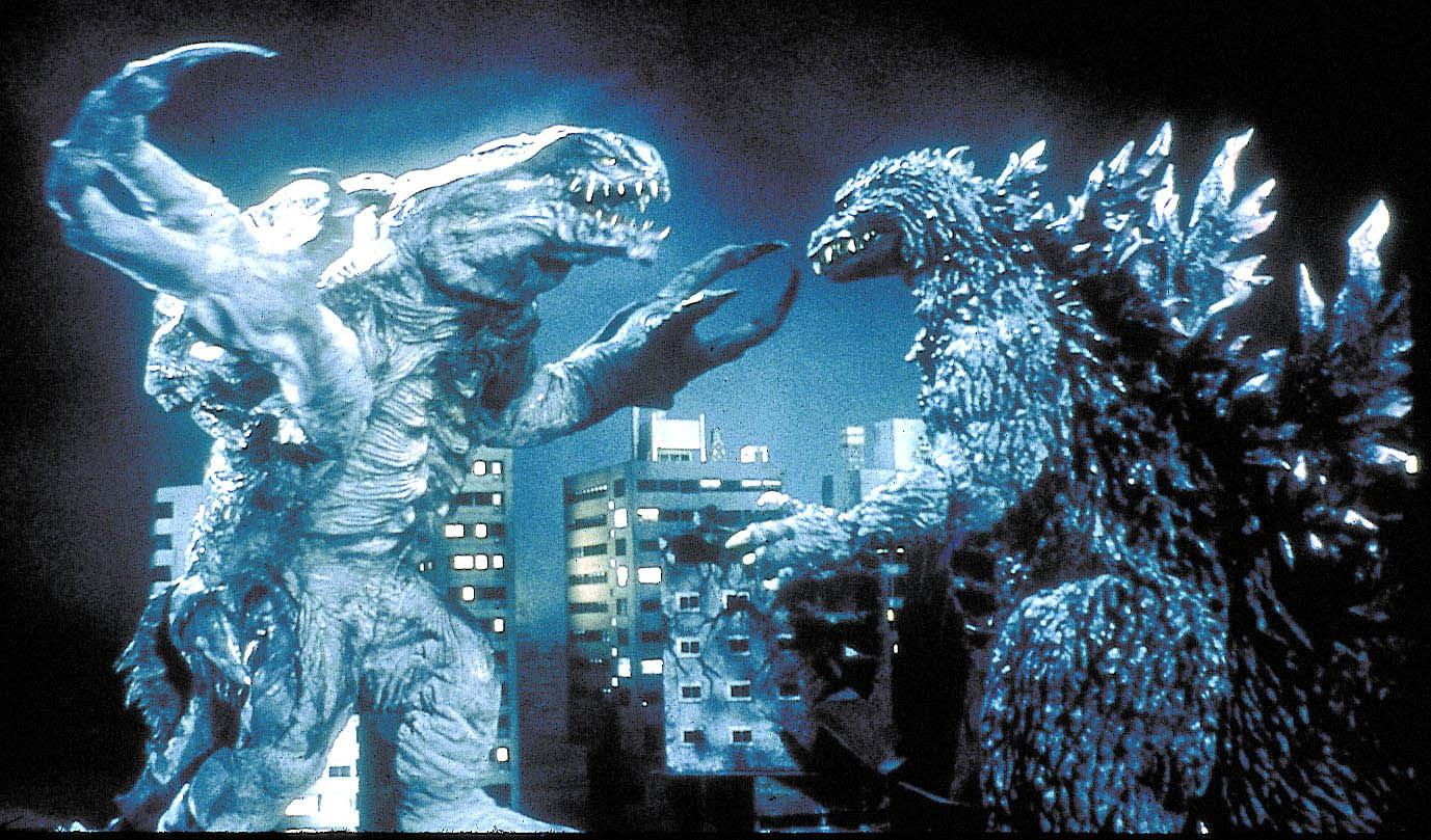 Photo shows Godzilla next to another monster