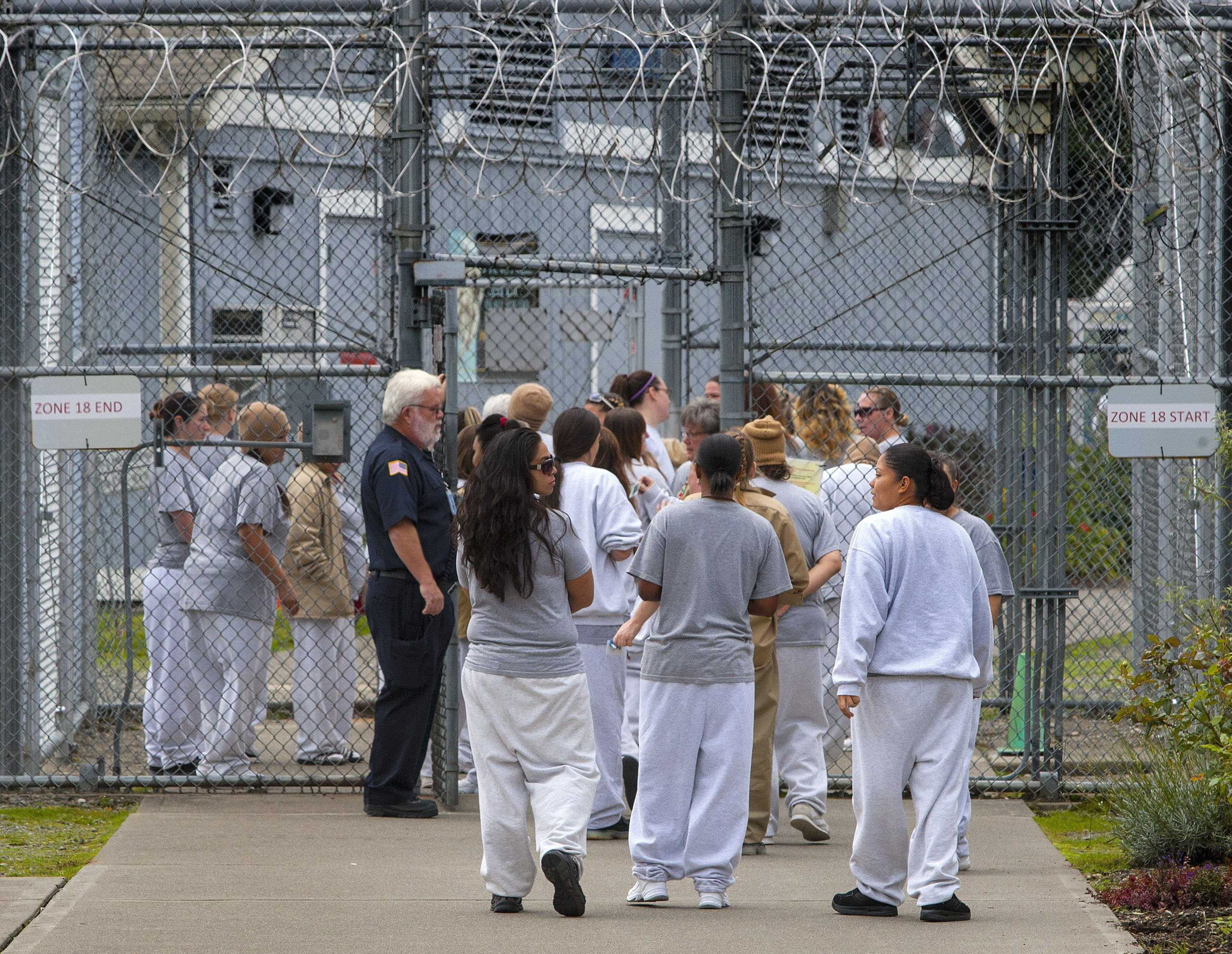 Prison detainees shown