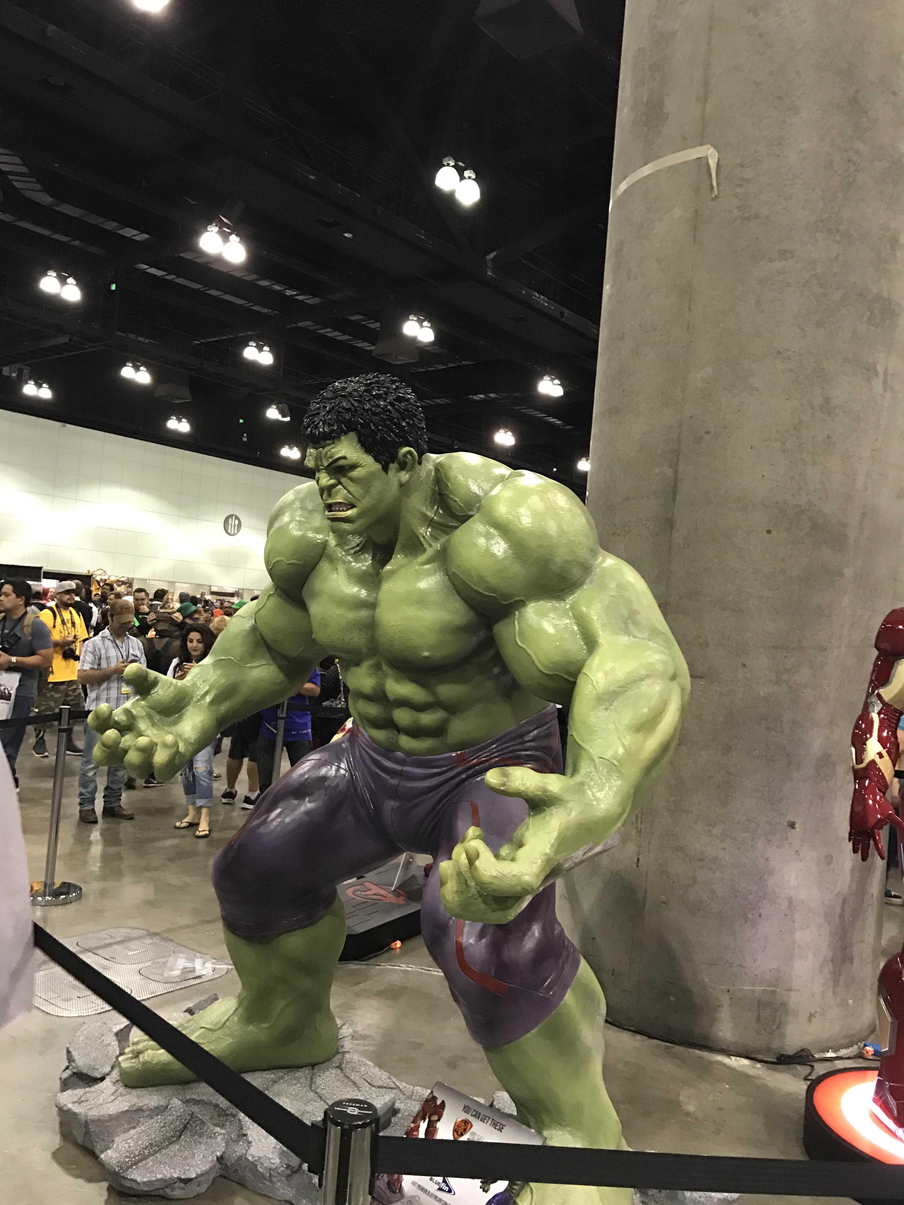 Sculpture at LA comic con shows the Hulk