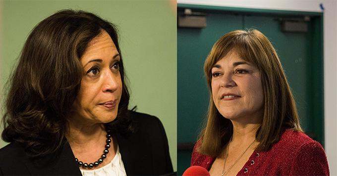 Senatorial candidates Kamala Harris and Loretta Sanchez visit CSUN as election draws near