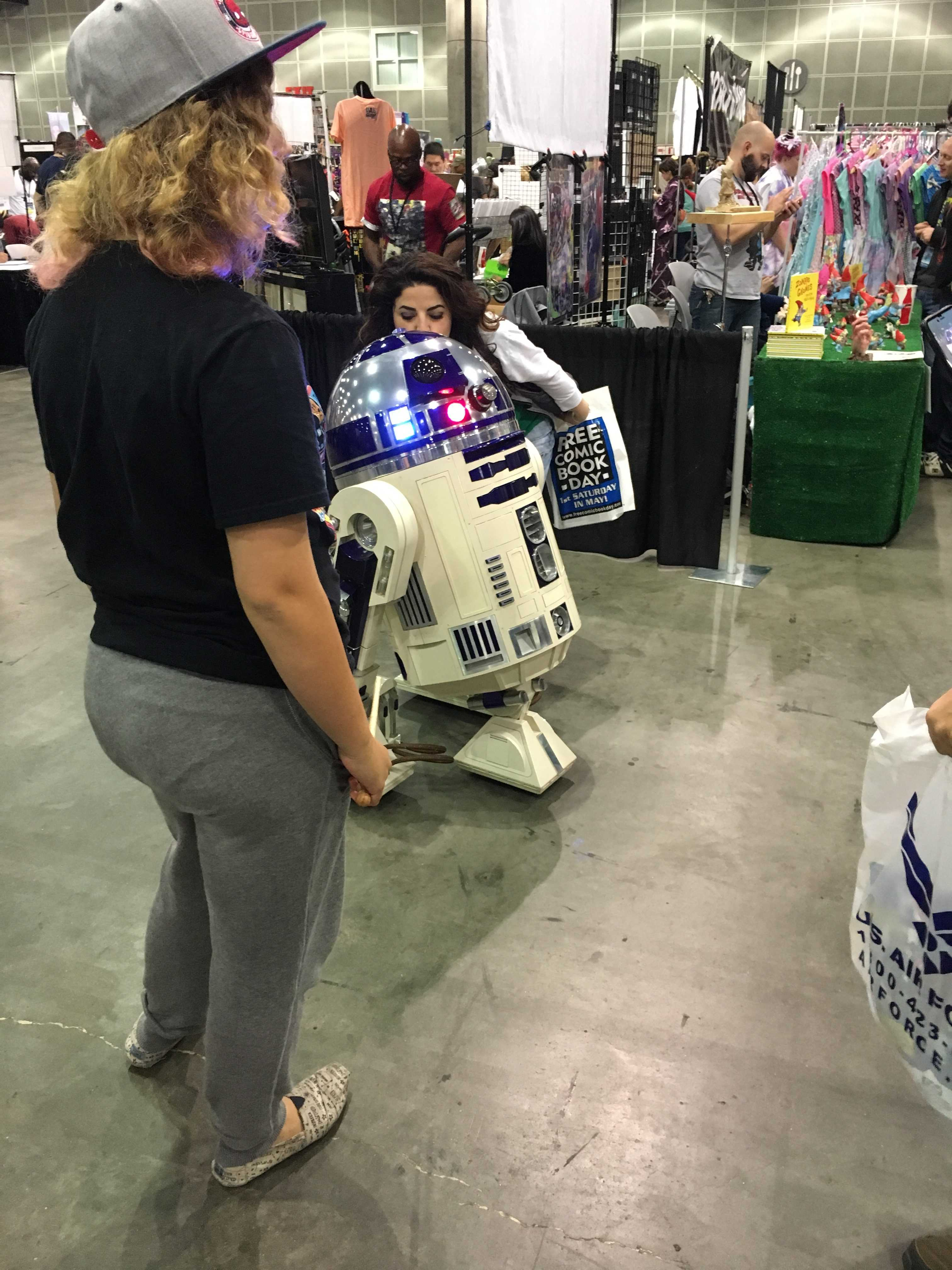 R2D2 is shown at comic con