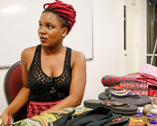African+fashion+designer+displays+work+on+campus