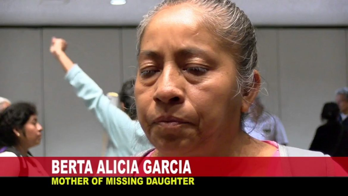 Berta Alicia Garcia (mother to a missing daughter) speaks on Valley View News