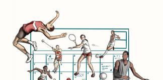 Sports calendar illustration