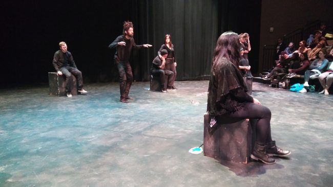 CSUN students take the stage in a performance with a live audience