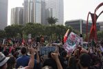 In perishing square, protesters fill the streets