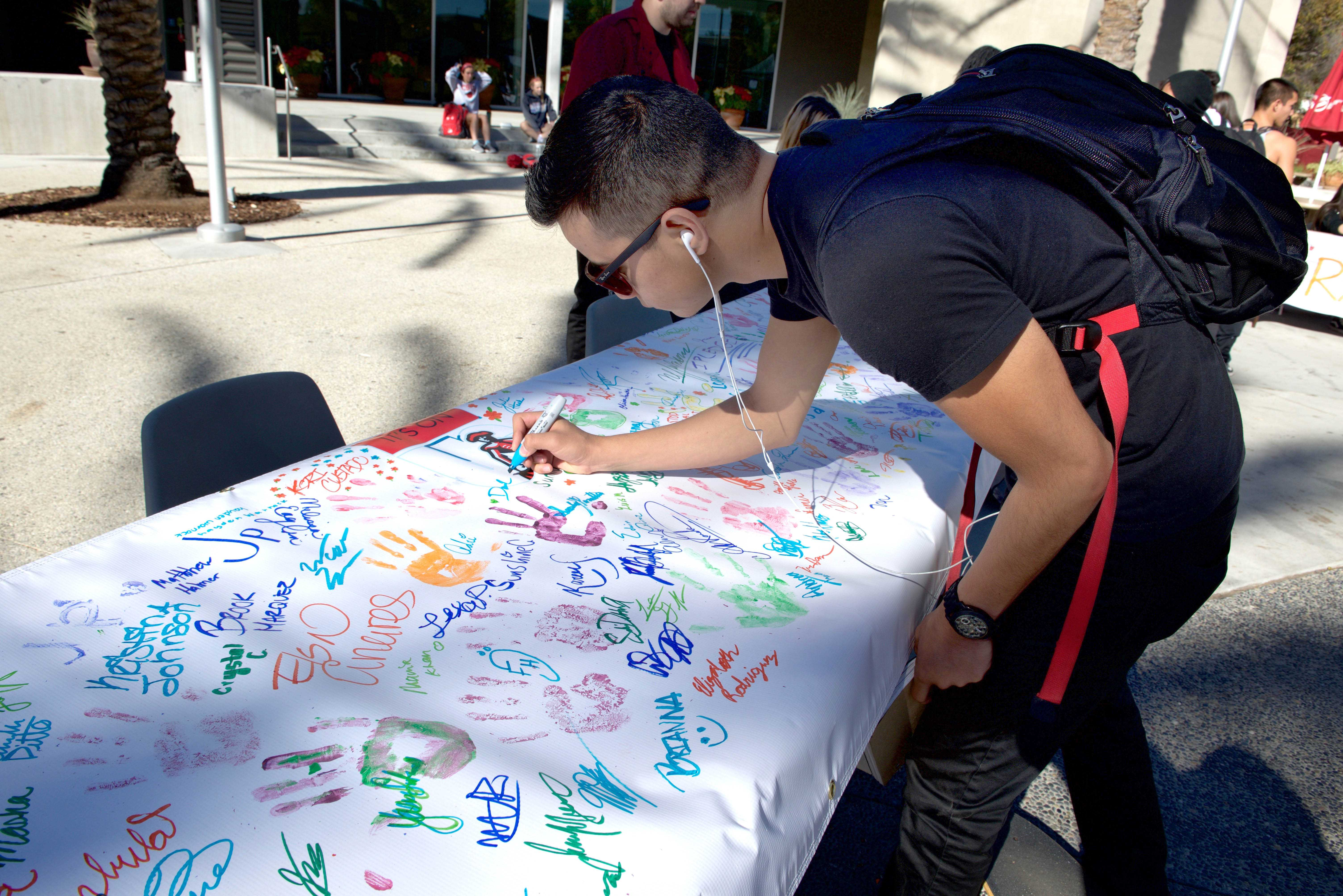 On campus tabling's aim to educate students about sexual assault