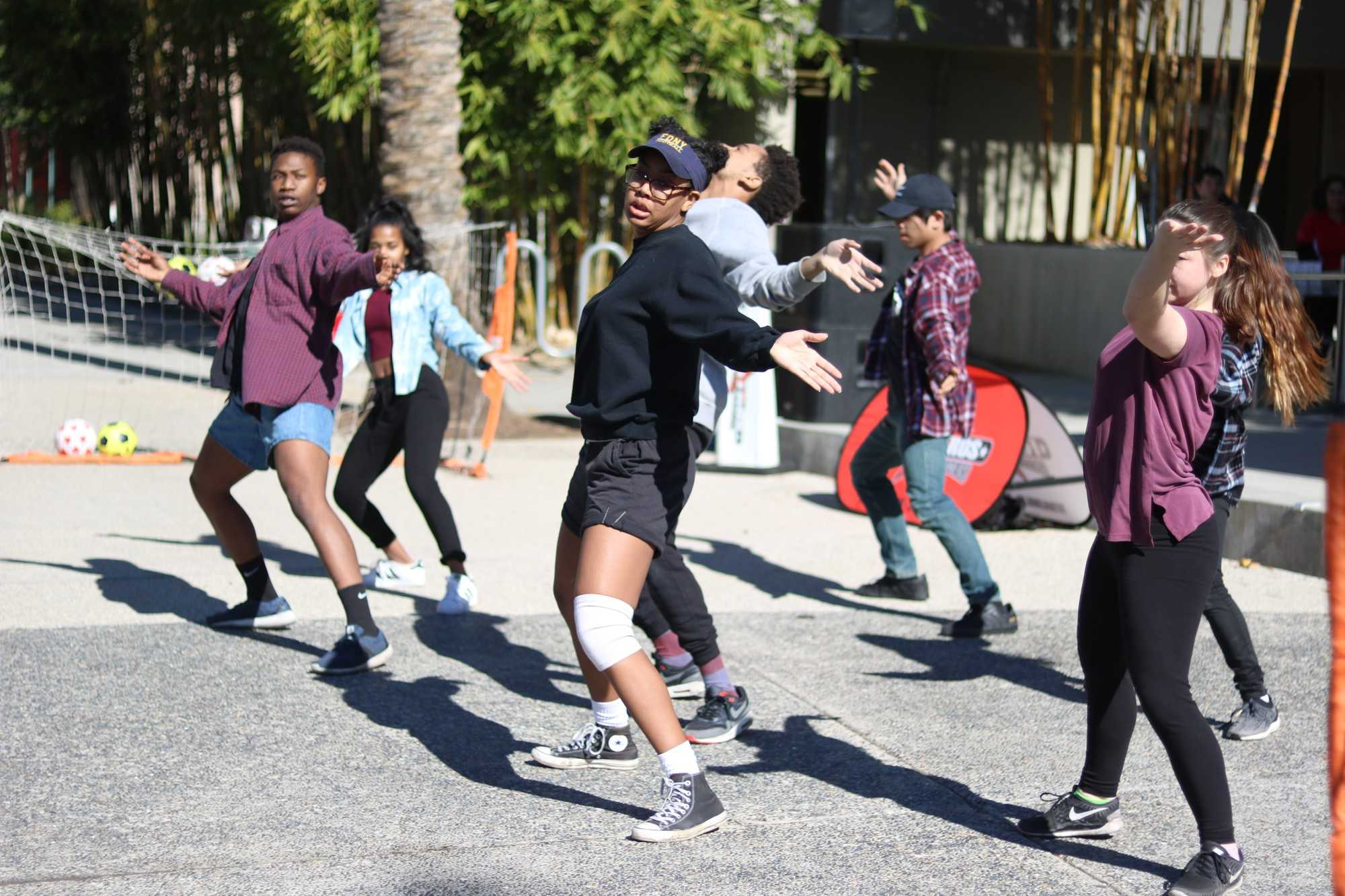 CSUN's Fasmode Dance Crew, takes Plaza Del Sol in the USU on Thursday, January 26th. Photo credit: Lauren Valencia