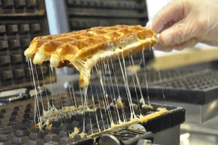 waffle grilled cheese sandwich pictured