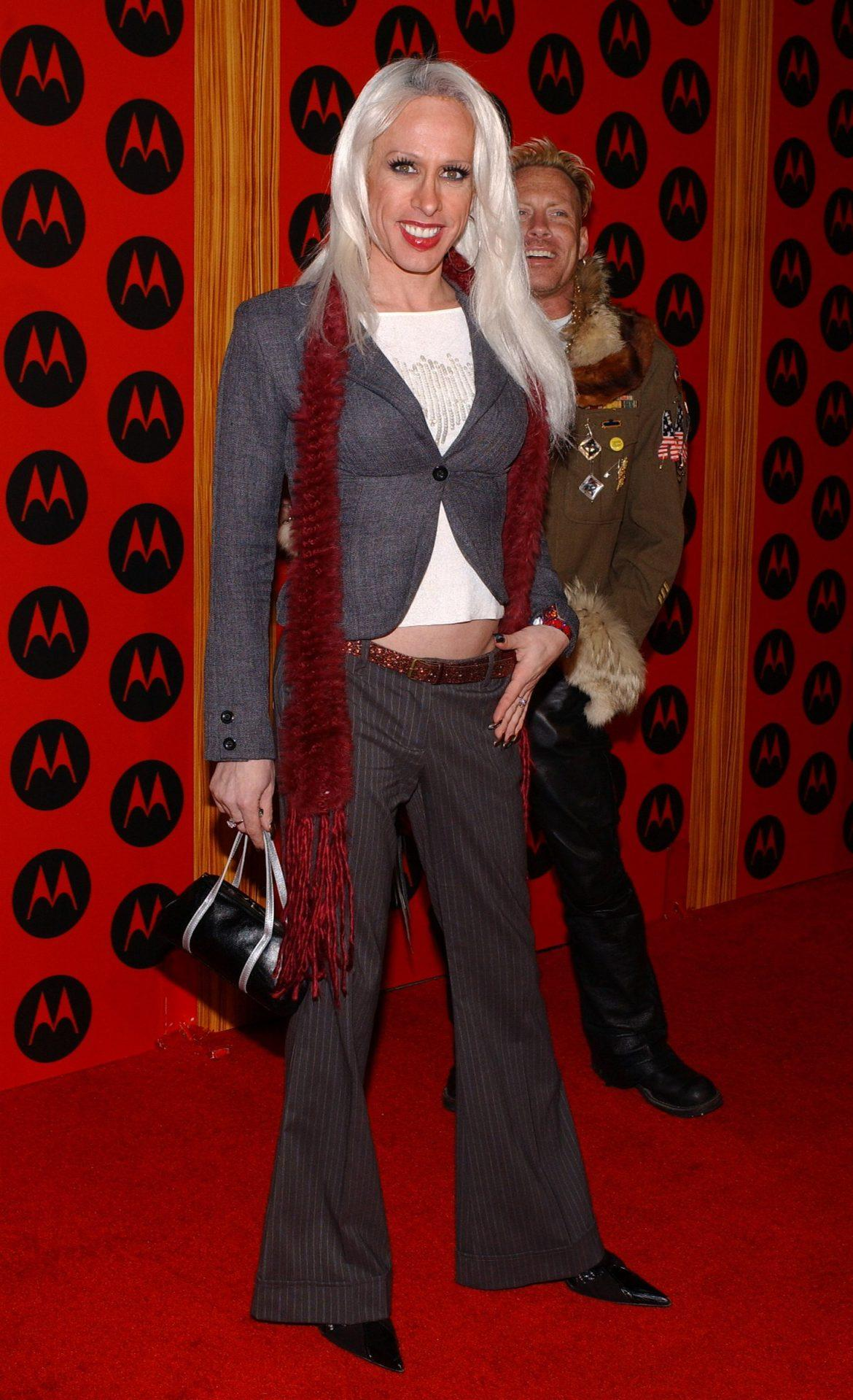 Alexis Arquette poses on the red carpet