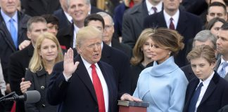 Donald Trump swears into office at 2017 presidential innaugeration