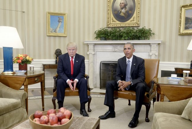 President Barack Obama meets with Donald Trump in the Oval Office