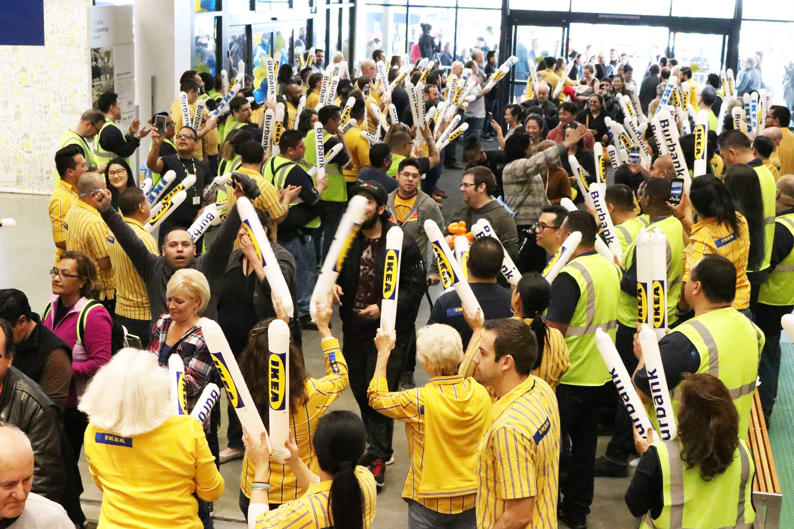 People enter the biggest IKEA store in the United States in Burbank for its grand opening on Wednesday, Feb. 8, 2017. Nikolas Samuels/The Sundial