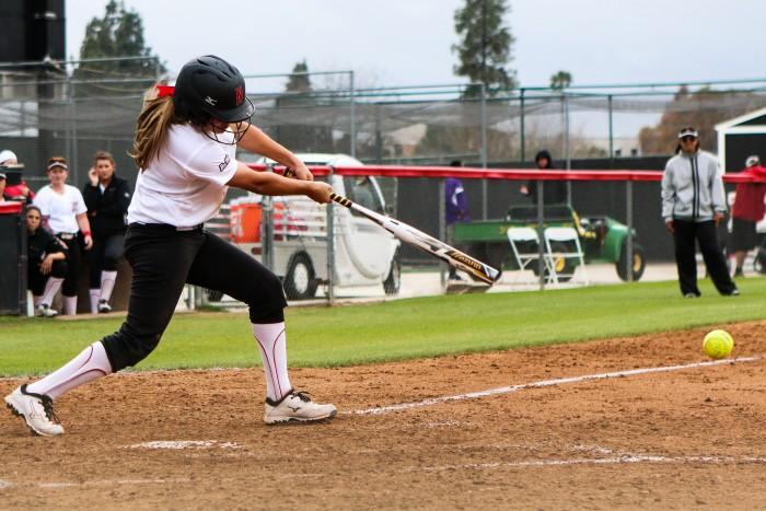 FILE PHOTO - CSUN softball struggled to muster any offense against UCLA on Wednesday, April 13, 2016. (Kelly Rosales / The Sundial)