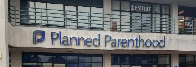photo shows the exterior of a planned parenthood