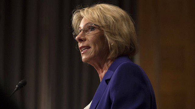 California Higher Education disapproves of Betsy DeVos