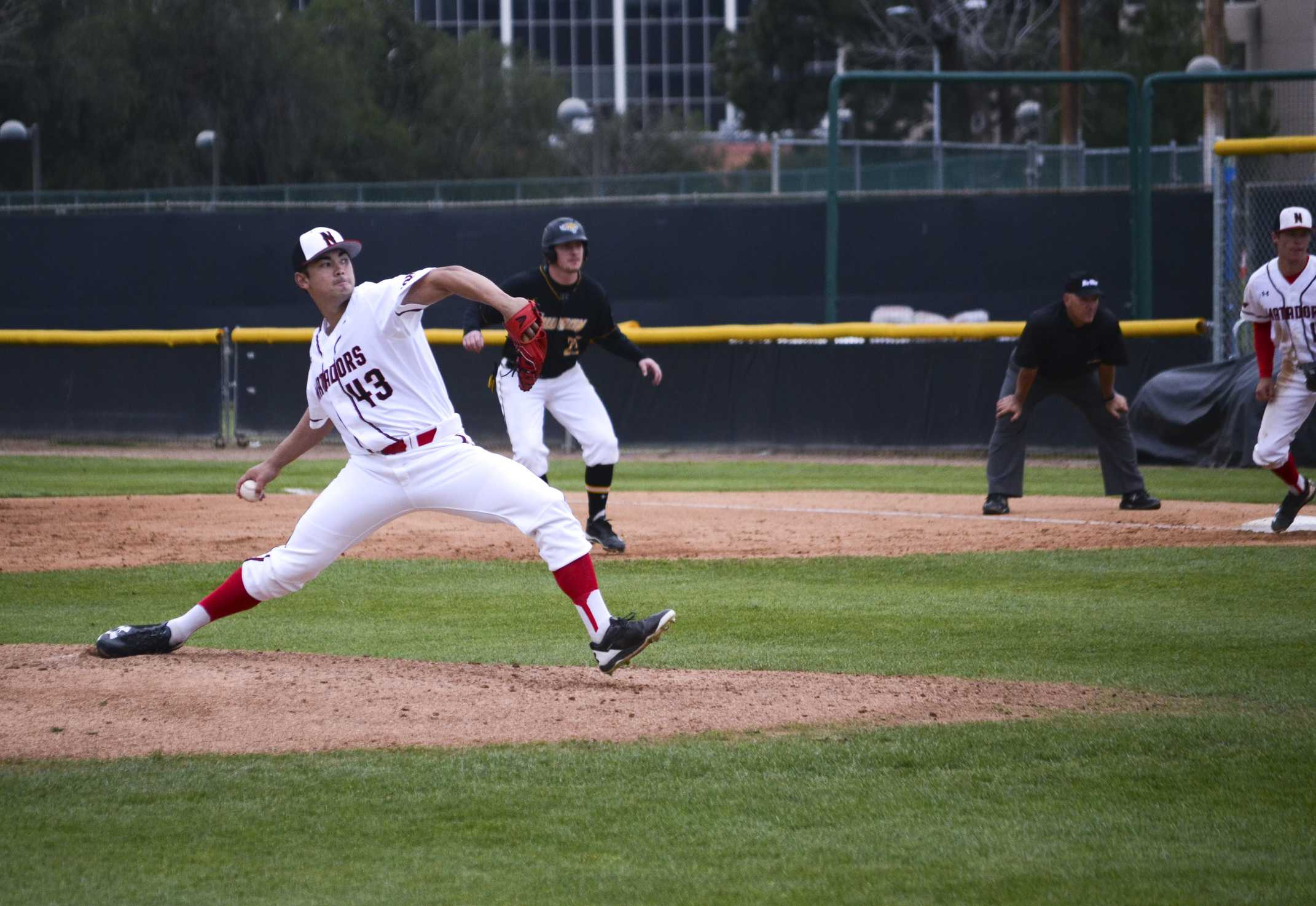 Starting pitcher Tei Vandeford took the loss in the second game in the Matador's doubleheader against Towson.  Photo Credit: Tomas Rodriguez/The Sundial