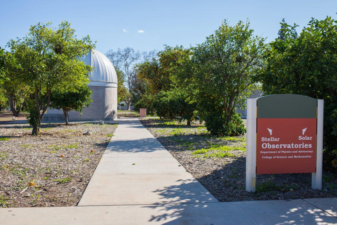 The+observatories+located+in+the+orange+grove+at+csun+pictured
