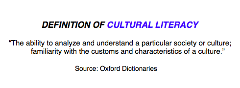 Definition of Cultural Literacy, Oxford
