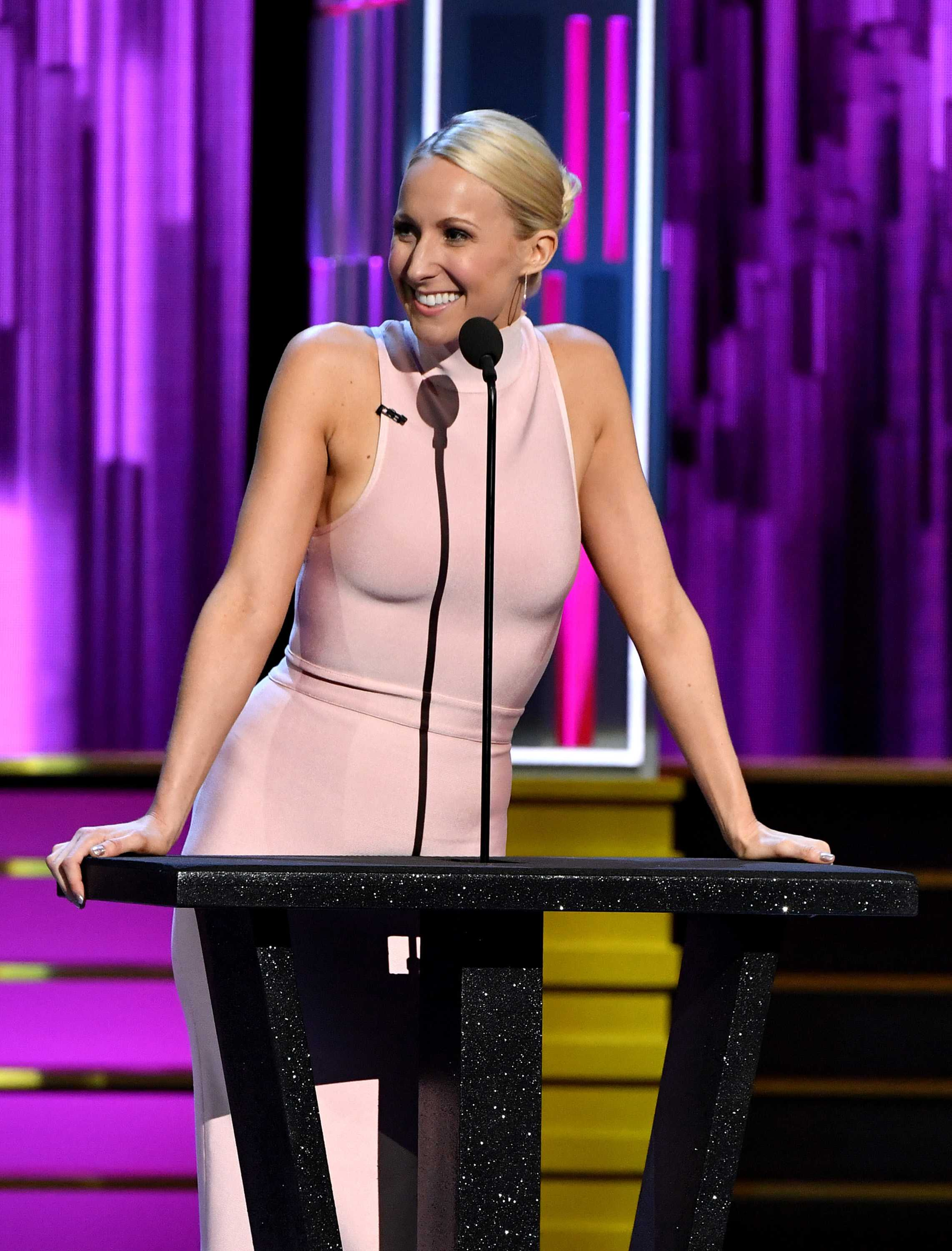 Nikki Glaser speaks at the Comedy Central Roast of Rob Lowe on Aug. 27, 2016 in Los Angeles. (Latour/Rex Shutterstock/Zuma Press/TNS)