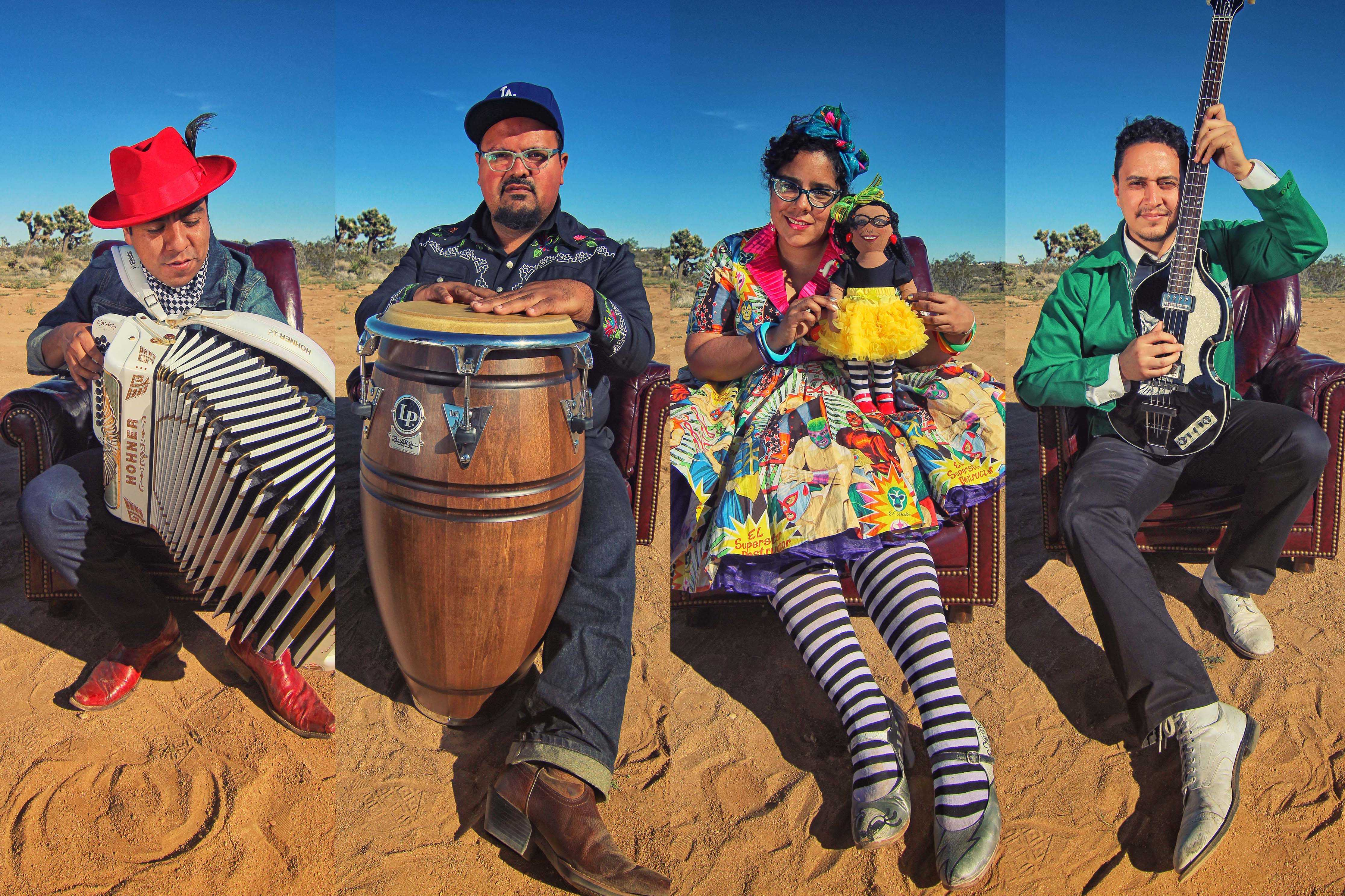 LSC band members. From left to right: Pepe, Miguel, Marisol, and Alex. (Courtesy of the VPAC)