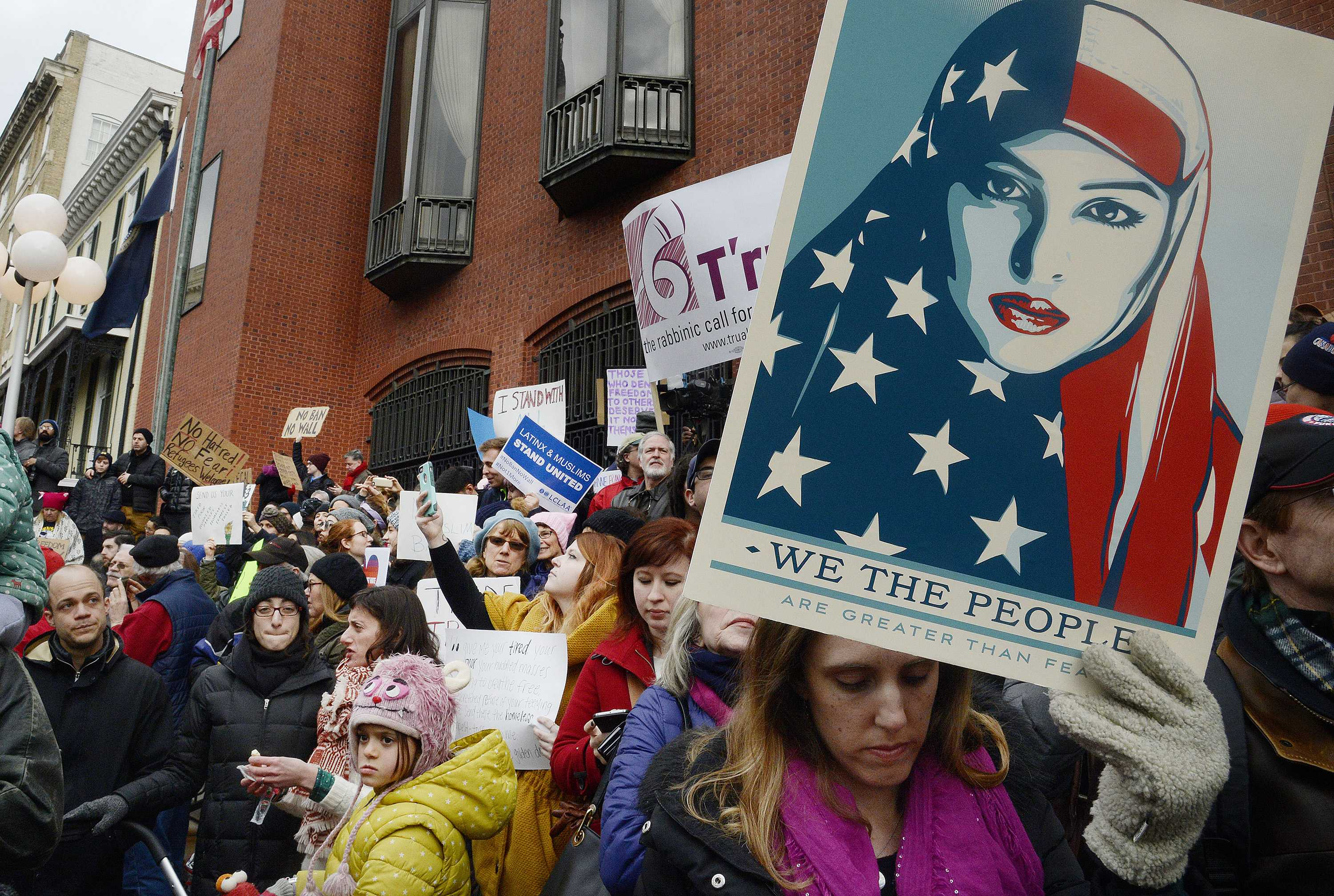 Thousands of Americans have protested against Trump's executive order. A Seattle District Attorney ruled blocked the order declaring it unconstitutional.
