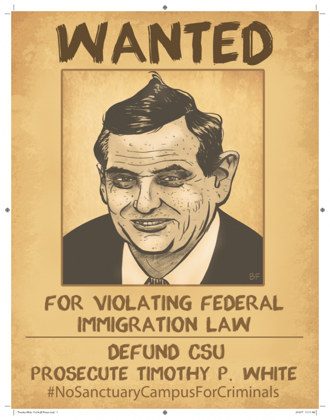 Freedom Center posters target CSU Chancellor Timothy White