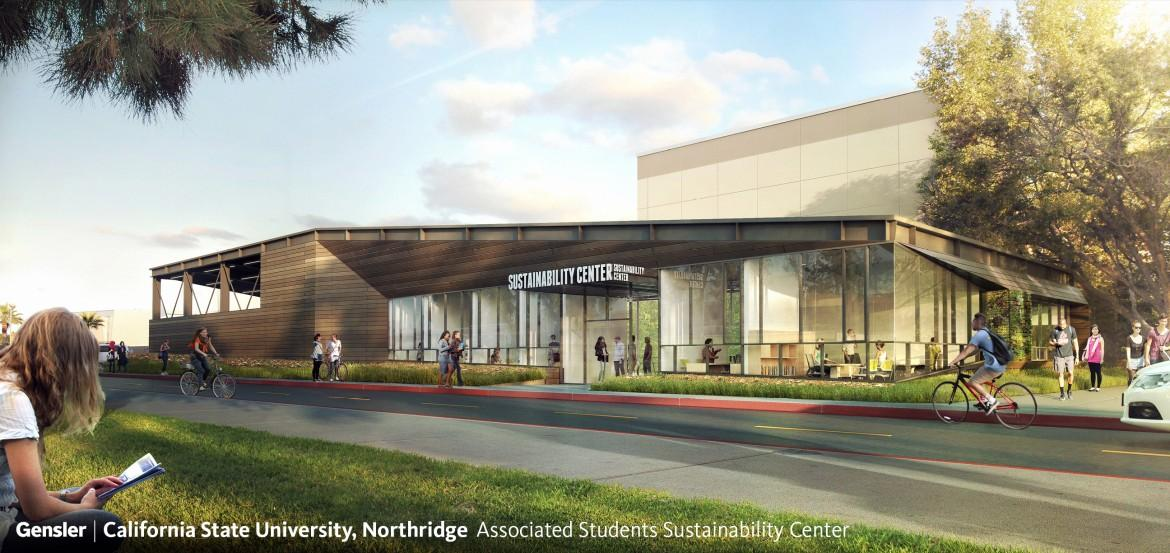 illustration of the plans for the CSUN sustainability center
