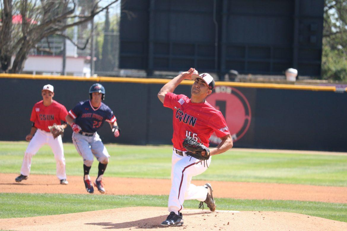 csun pitcher prepares to throw the ball