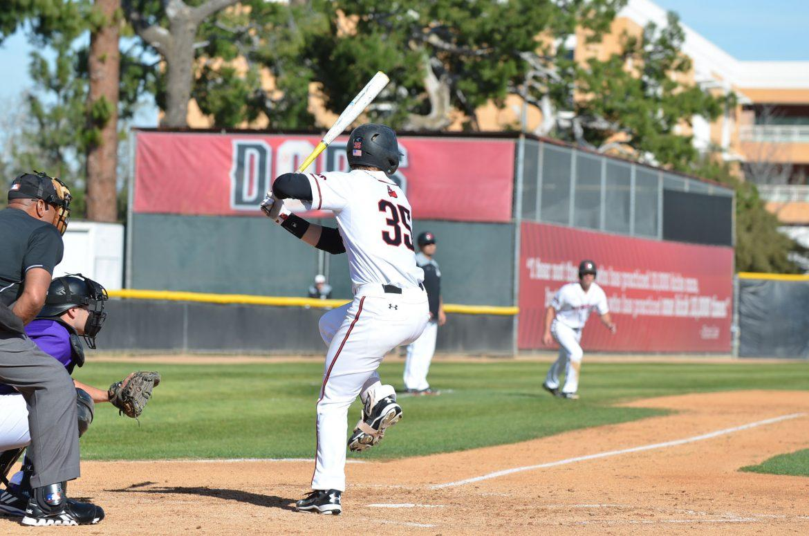 csun+baseball+player+prepares+to+hit+the+ball