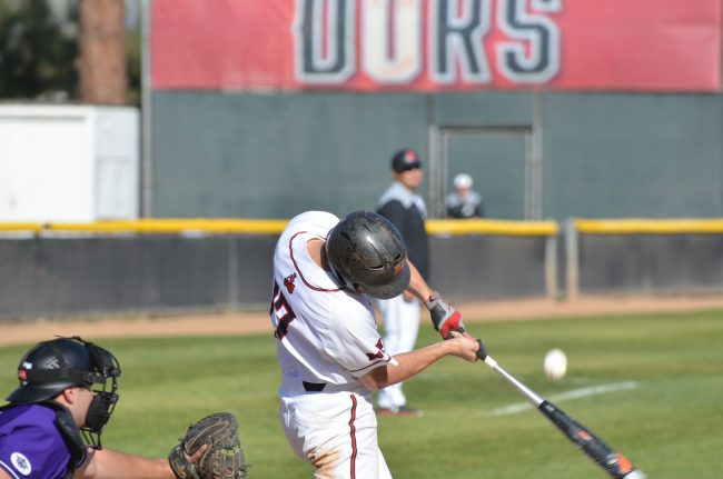 csun player hits the ball