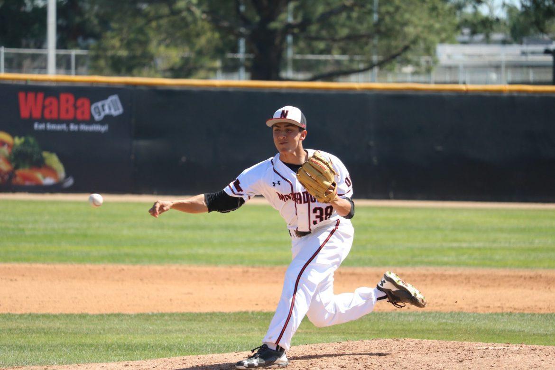 CSUN pitcher throws the ball