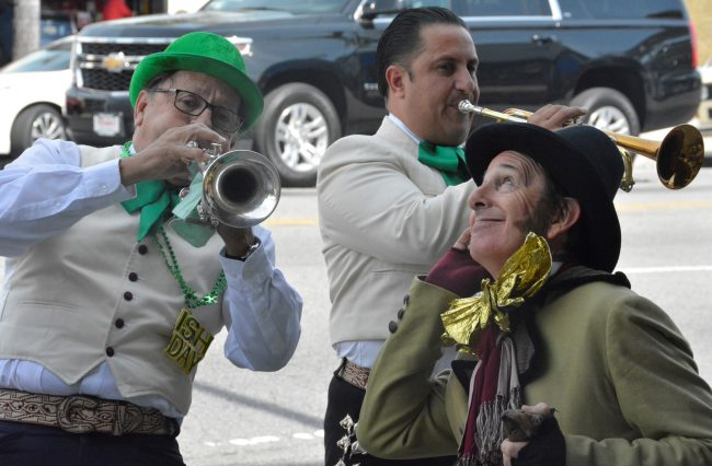 Mariachi group performs for Saint Paddy's day