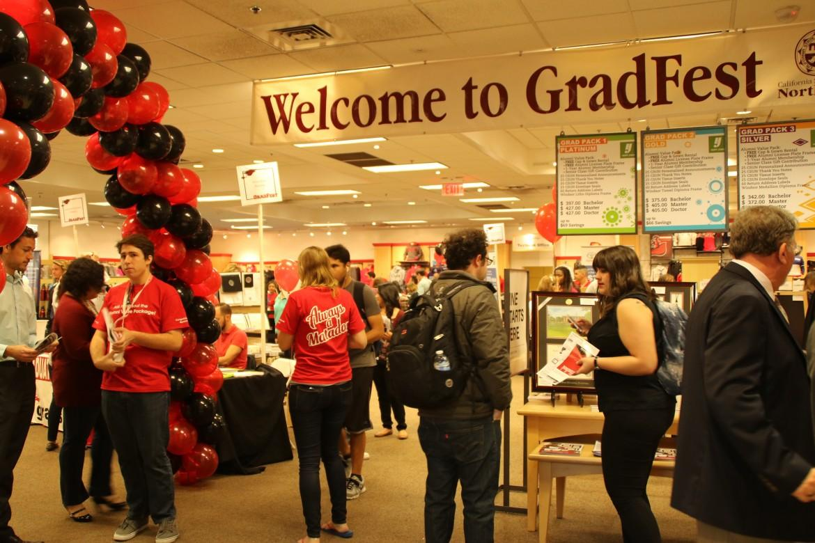 CSUN welcomes graduating seniors to fulfill their commencement needs at GradFest on Wednesday, March 11. Photo credit: Madeline Sensibile