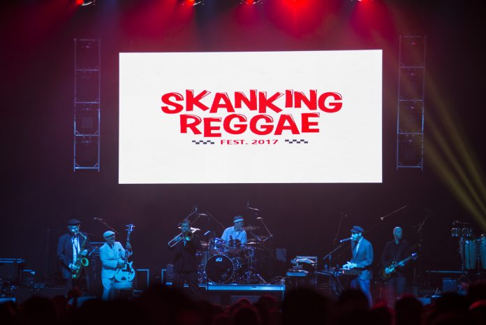 Band plays at shanking reggae festival