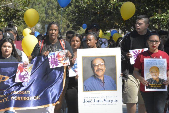Students walk in honor of Jose Luis Vargas