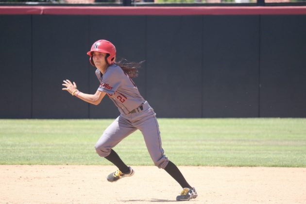 Gonzalez runs towards third base
