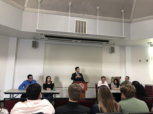 A.S. candidates discuss their platforms during town hall