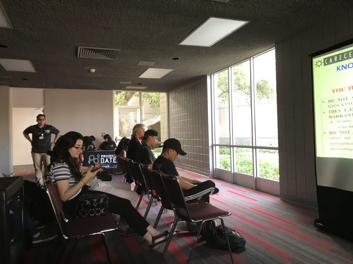 csun students watch a powerpoint presentation called