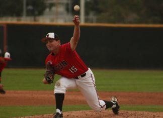 Justin Toerner pictured pitching