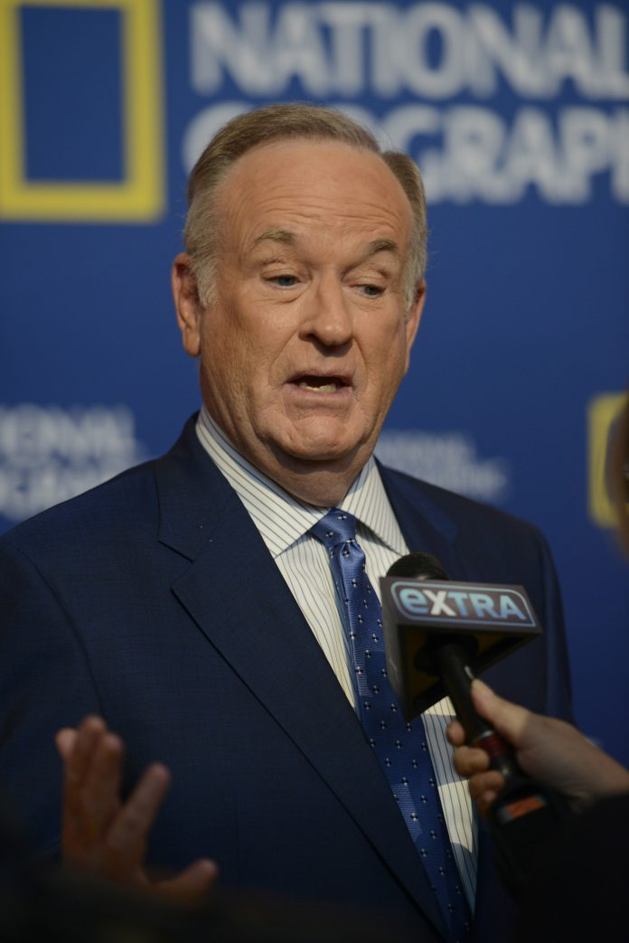 bill o'reilly pictured being interviewed by the news station extra