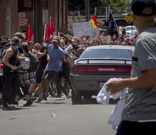 People protest in streets of charlottsville