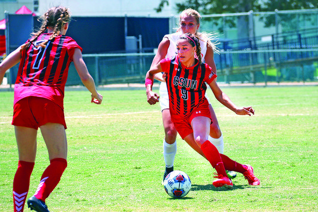 With+her+goal+Cynthia+Sanchez+%239+has+moved+into+a+tie+for+third+all-time+in+career+goals+for+CSUN+Photo+credit%3A+Nate+Graham