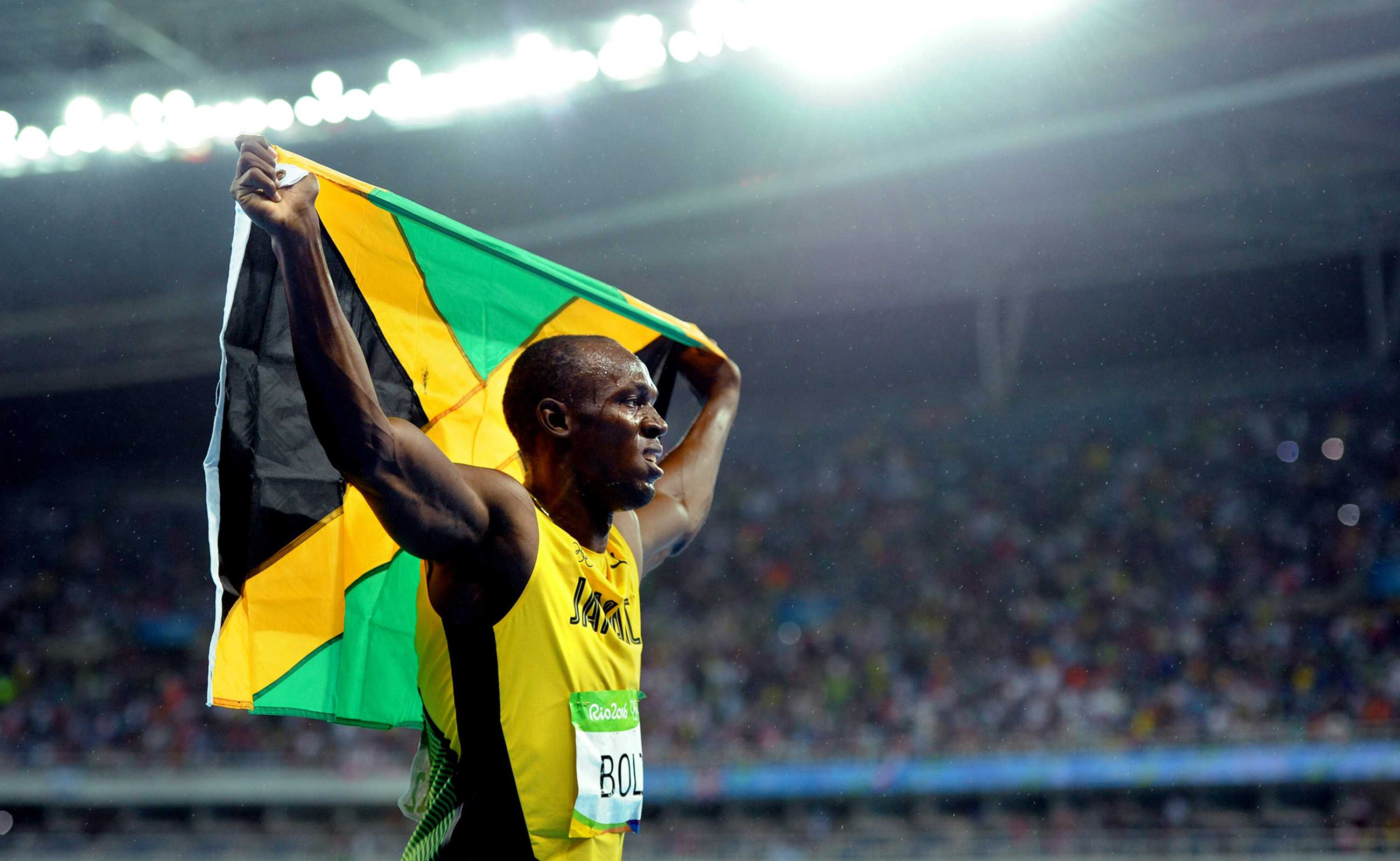 Jamaica's Usain Bolt celebrates after winning the 200m at the Summer Olympics on Thursday, Aug. 18, 2016, in Rio de Janeiro, Brazil. (Wally Skalij/Los Angeles Times/TNS) Photo credit: MCT
