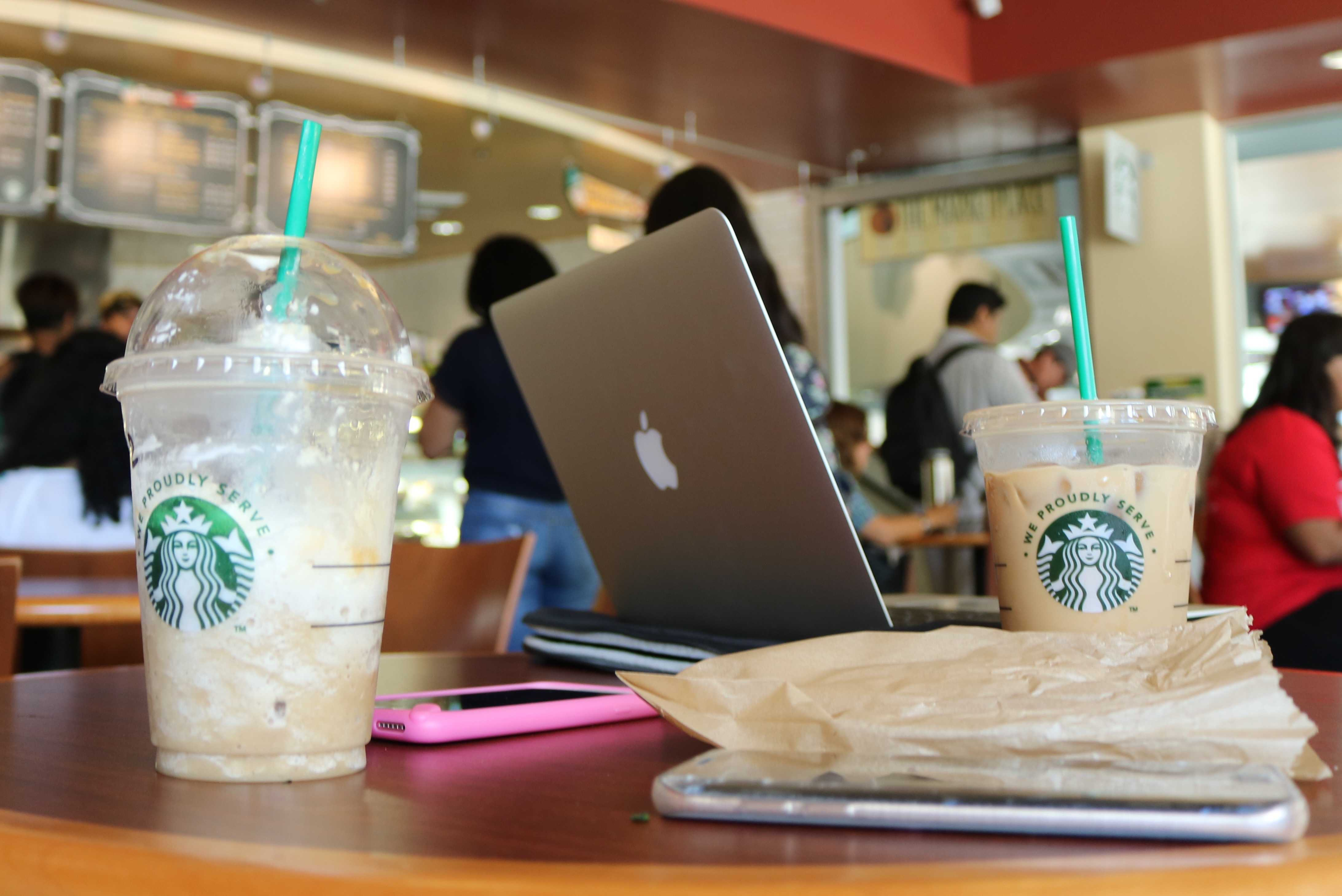 Currently, CSUN serves Starbucks only at the Sierra Center Photo credit: Kianna Hendricks