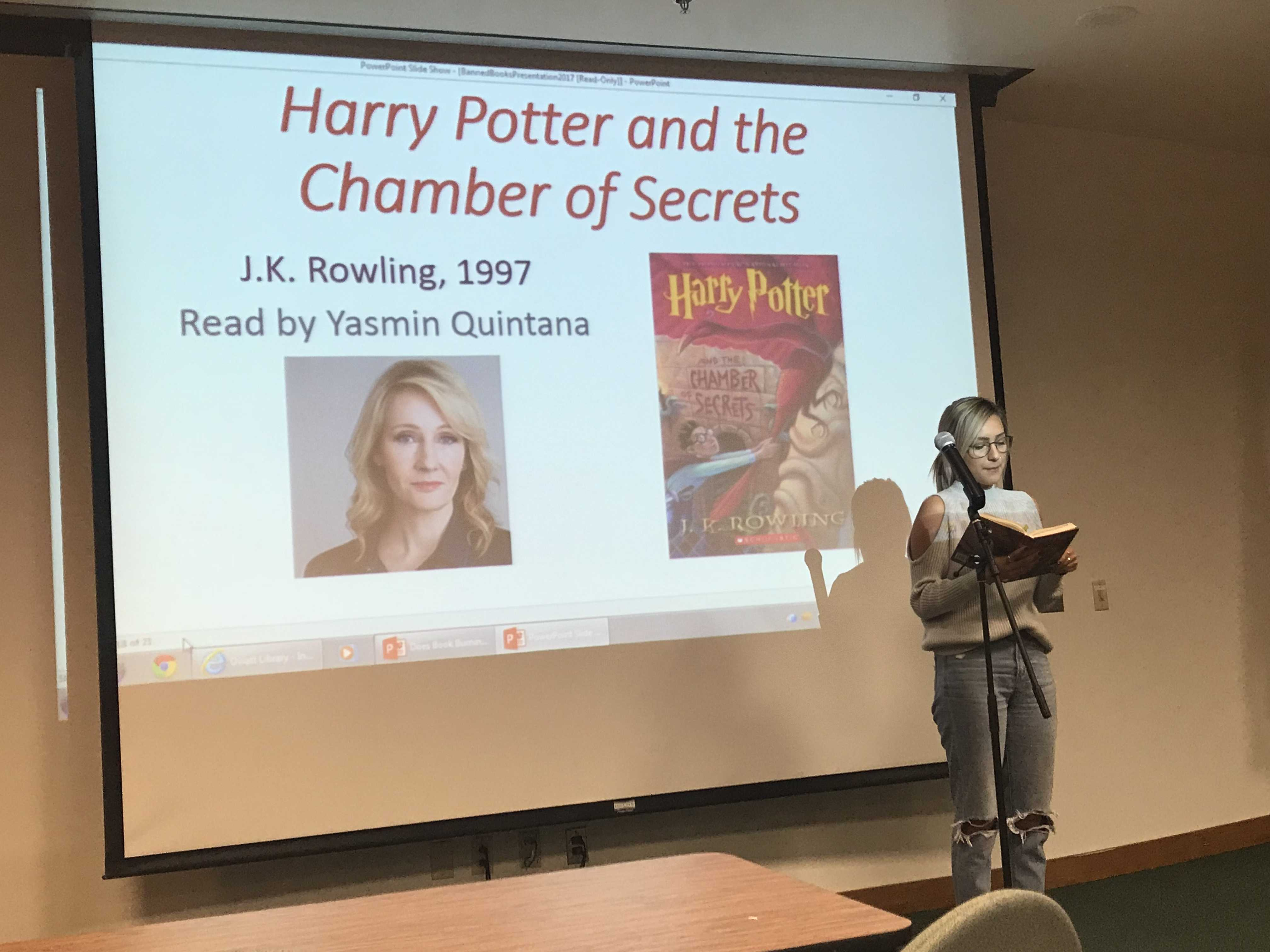 Yasmin Quintana reads an excerpt from Harry Potter and the Chamber of Secrets.