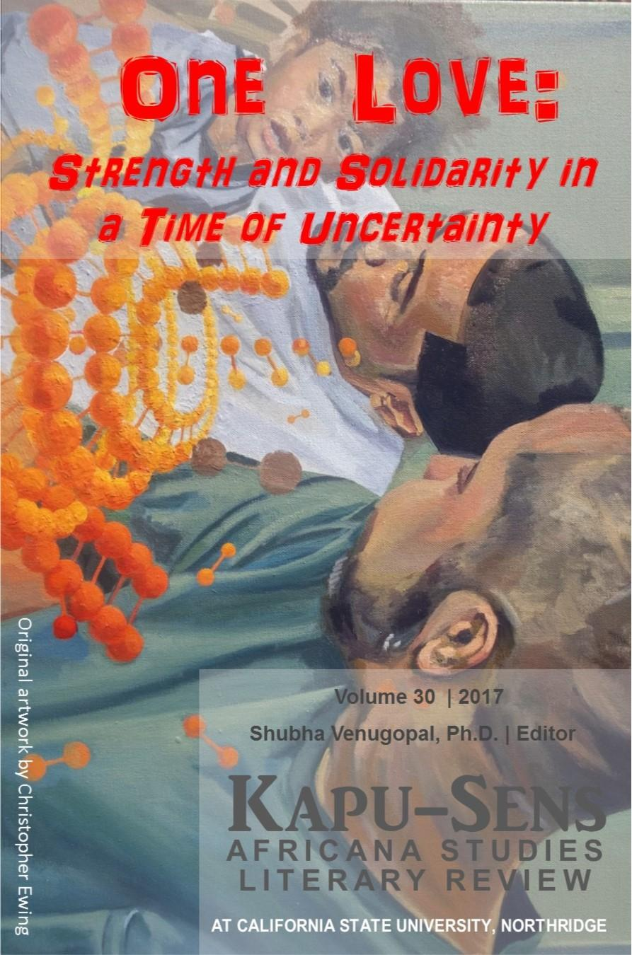 Cover illustrating a father grand father and son with red title reading one love: strength and solidarity in a time of uncertainty