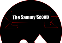 "graphic says, ""the sammy scoop"""