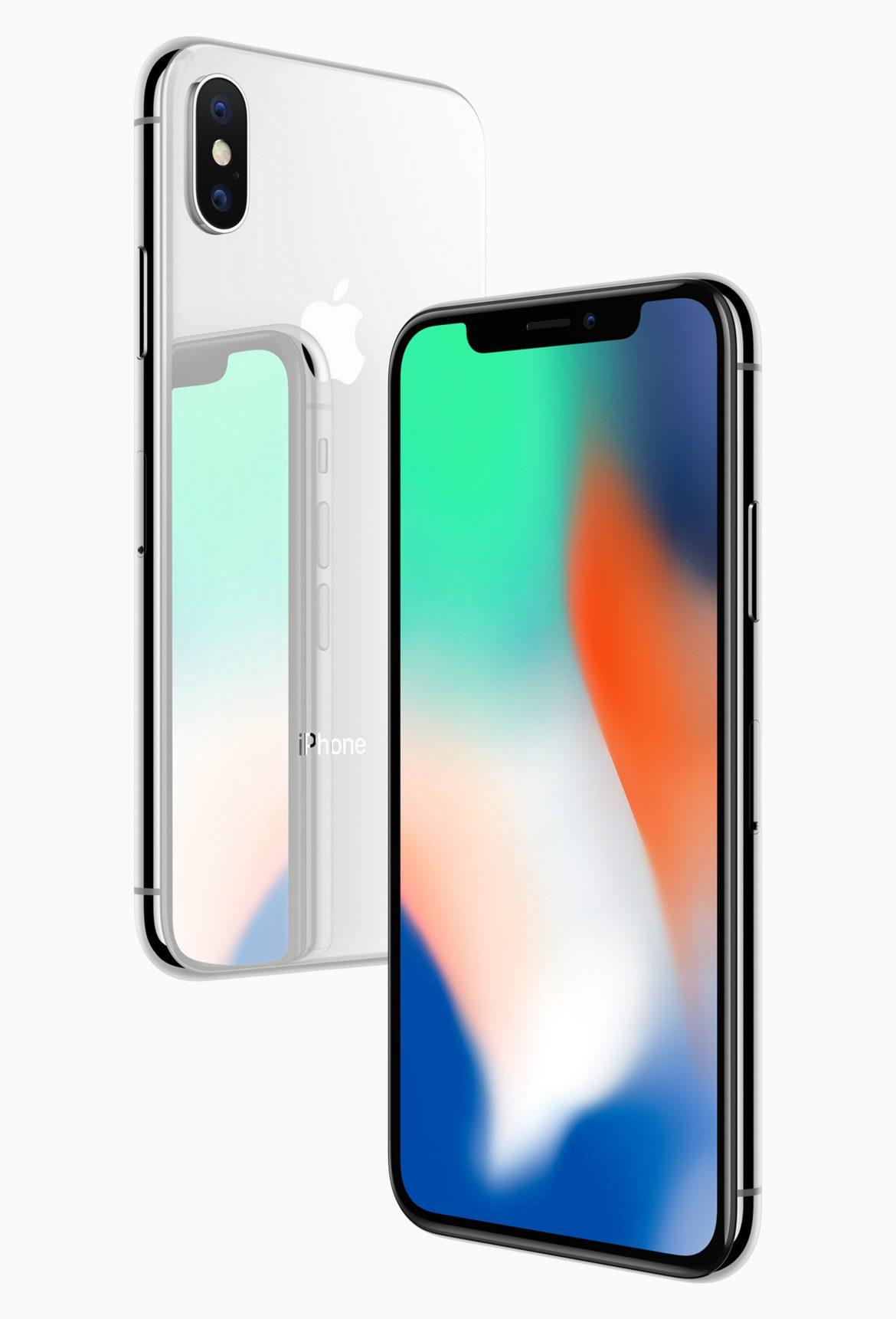 The iPhone X, an all-glass design with a 5.8-inch Super Retina display. (Apple)