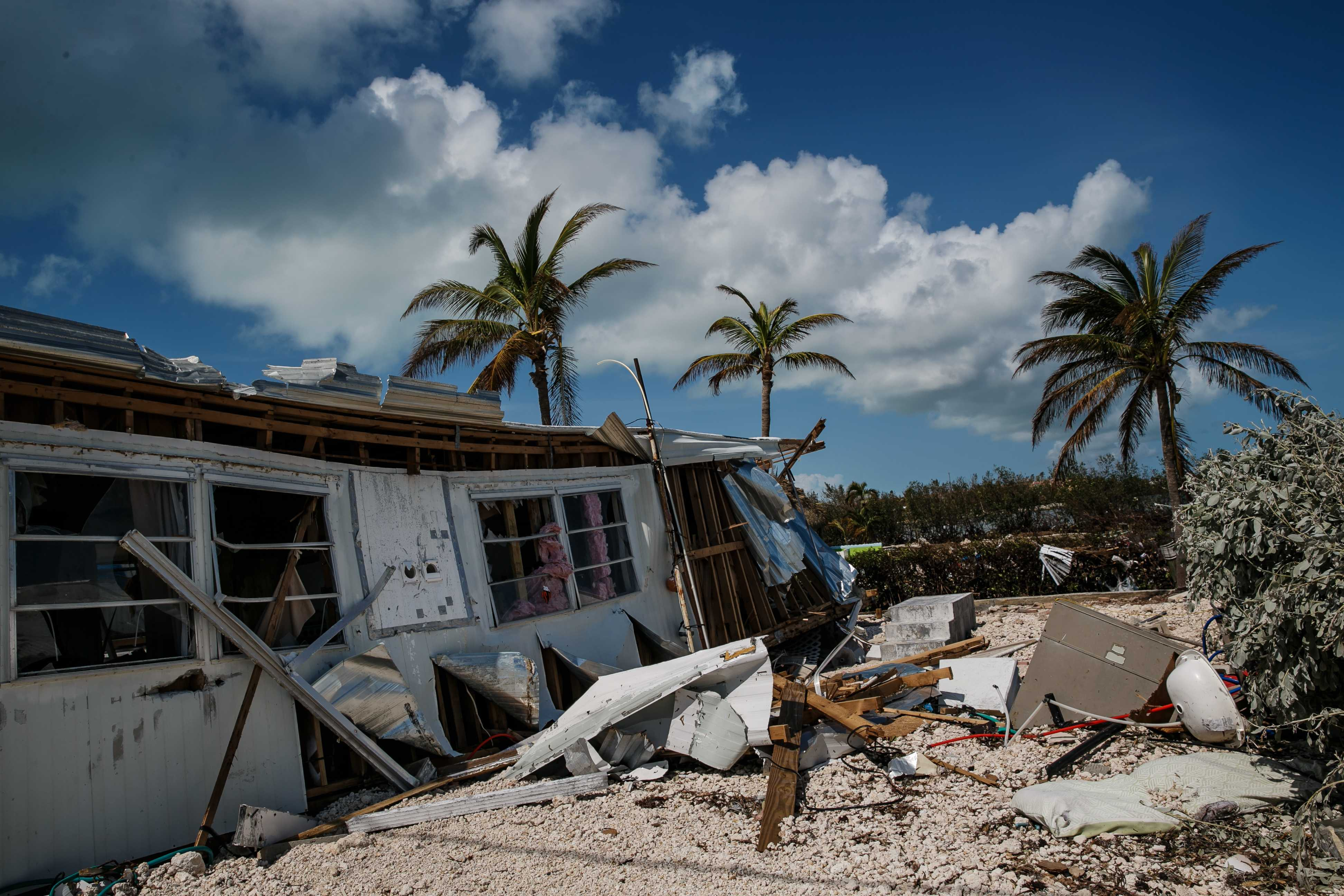 Trailer homes at the Sea Breeze trailer park are destroyed in the wake of Hurricane Irma, in Islamorada, Fla., on Tuesday, Sept. 12, 2017. (Marcus Yam/Los Angeles Times/TNS)